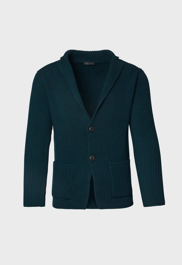 Merino Wool Sweater Jacket, image 1