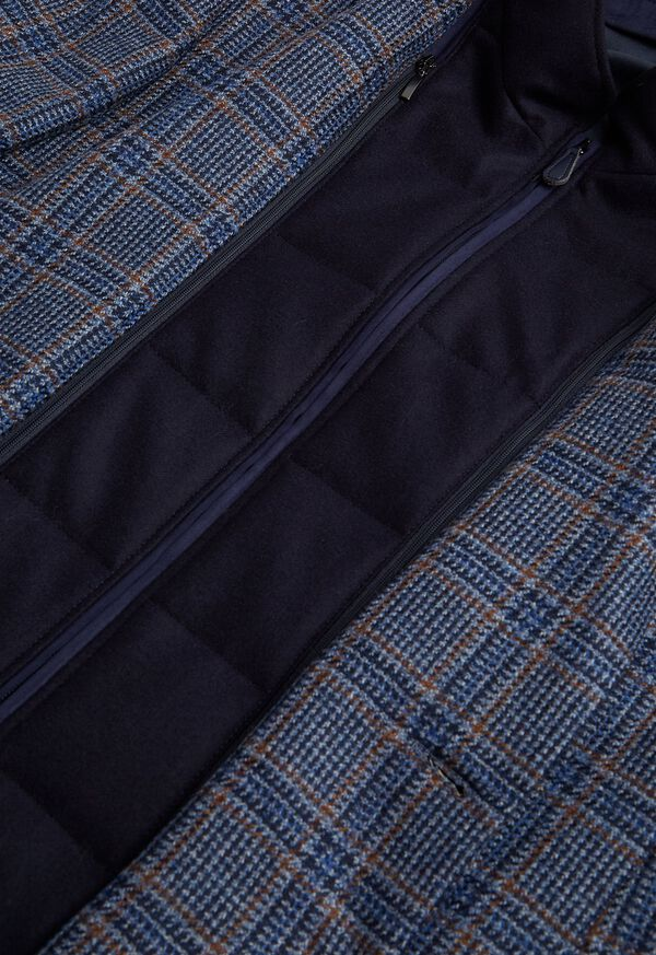 Plaid Travel Jacket and Built-in Vest, image 3