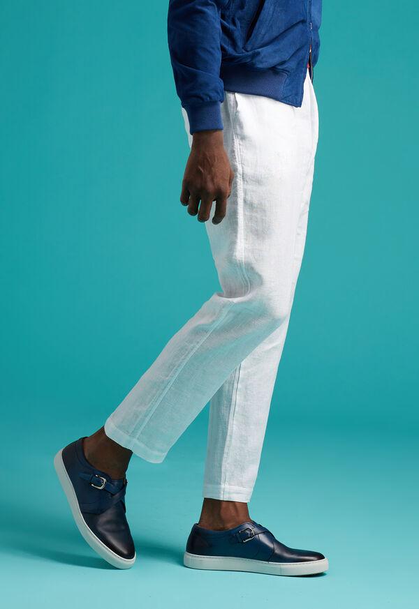 Drawstring Washed Linen Pant, image 6