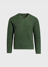Alpaca Links V-Neck Sweater, thumbnail 1