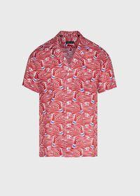 Sailboat Wave Print Shirt, thumbnail 1