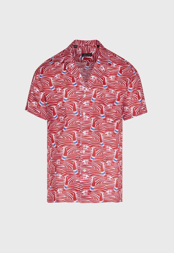 Sailboat Wave Print Shirt, image 1
