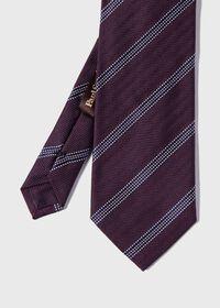 Textured Stripe Silk Tie, thumbnail 1