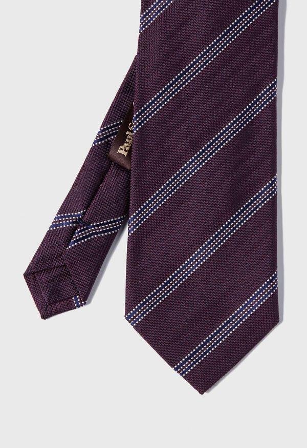 Textured Stripe Silk Tie, image 1