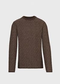 Popcorn Stitch Melange Sweater, thumbnail 1