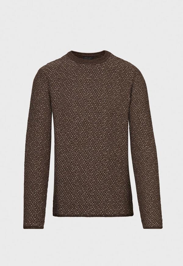 Popcorn Stitch Melange Sweater, image 1
