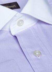 Contrast Collar Cotton Twill Dress Shirt, thumbnail 2