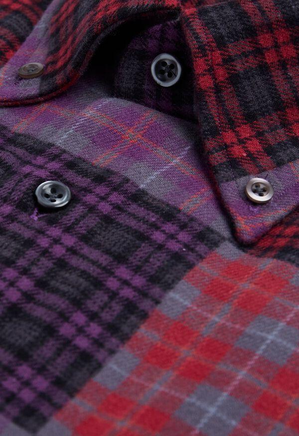 Patchwork Brushed Flannel Sport Shirt, image 2