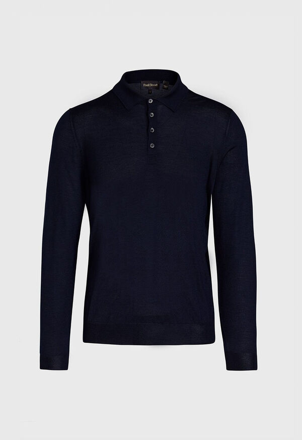 Long Sleeve Cashmere Polo, image 1