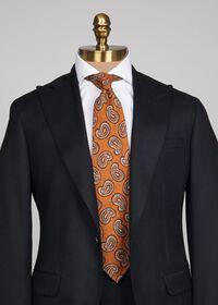 Silk Paisley Unlined Tie, thumbnail 2