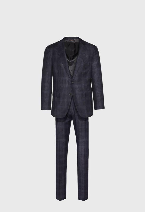 Super 150s Wool Plaid Suit, image 1