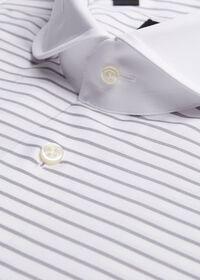 Horizontal Stripe Dress Shirt, thumbnail 2