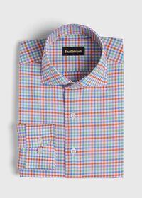 Cotton Seersucker Plaid Sport Shirt, thumbnail 1