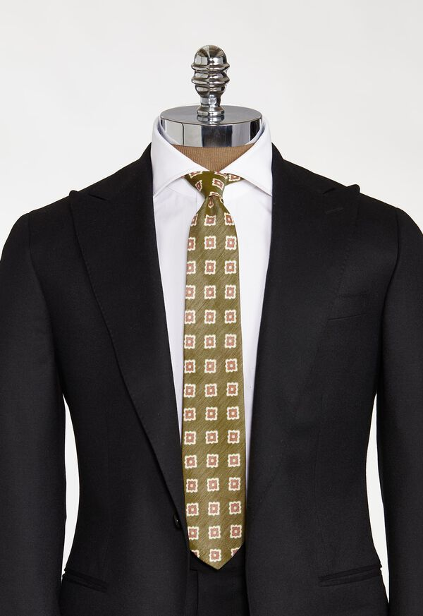 Printed Deco Square Medallion Tie, image 2