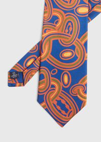 Oval Deco Print Silk Tie, thumbnail 1
