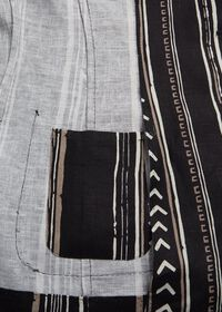 Black and Tan Linen Stripe Jacket, thumbnail 5