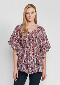 Butterfly Sleeve Floral Blouse, thumbnail 1