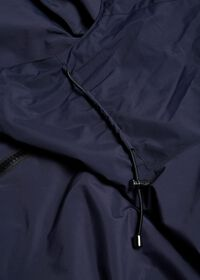 Navy Solid Cape Jacket, thumbnail 6