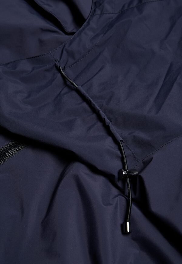 Navy Solid Cape Jacket, image 6