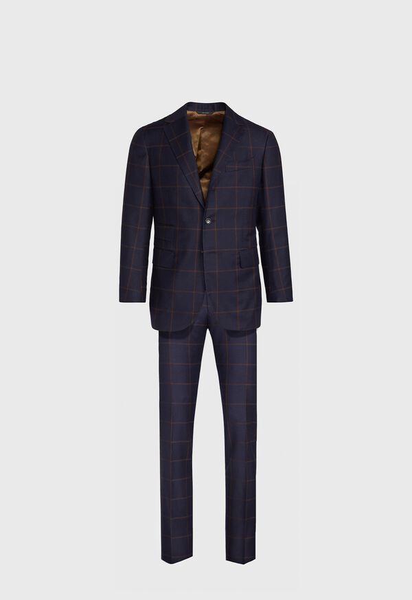 Navy Windowpane Suit, image 1