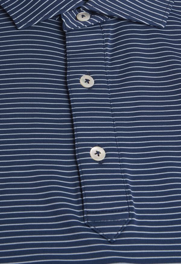 Pencil Stripe Performance Polo, image 2