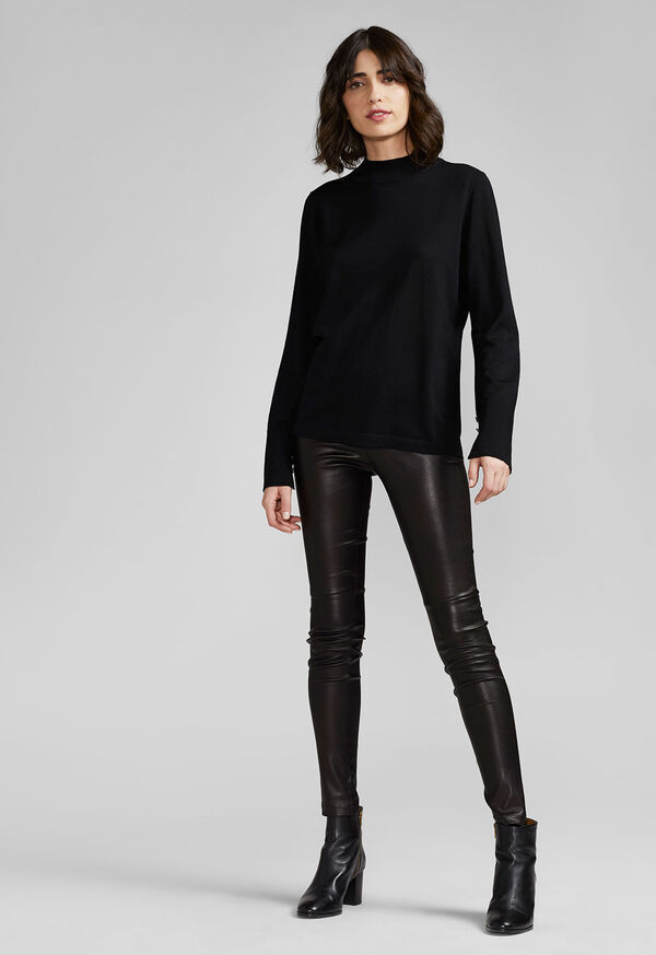 Stretch Leather Legging, image 2