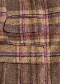 Oatmeal and Rose Wool Blend Plaid Sport Jacket, thumbnail 4