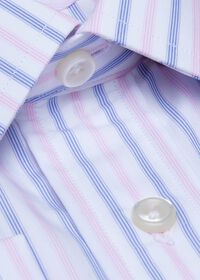 Striped Cotton Dress Shirt, thumbnail 2