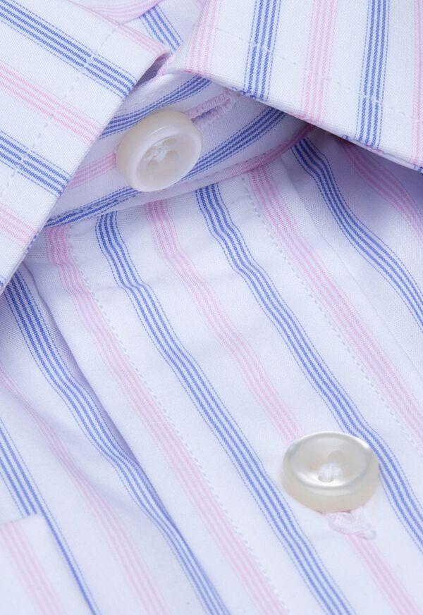 Striped Cotton Dress Shirt, image 2