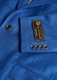 Royal Blue Solid Soft Jacket, thumbnail 2