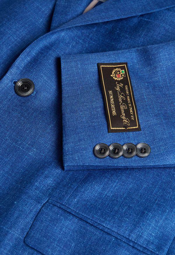 Royal Blue Solid Soft Jacket, image 2