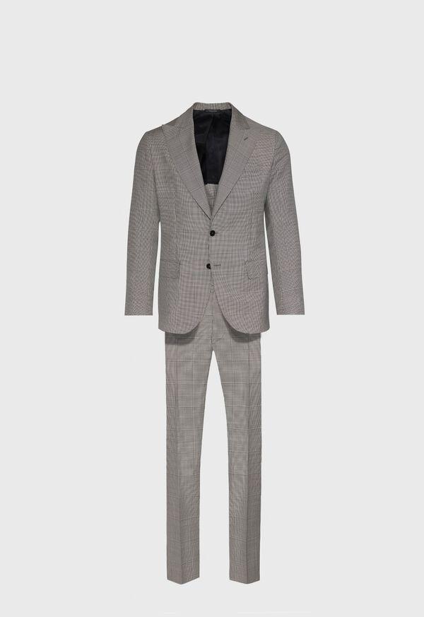 Black and White Plaid Suit
