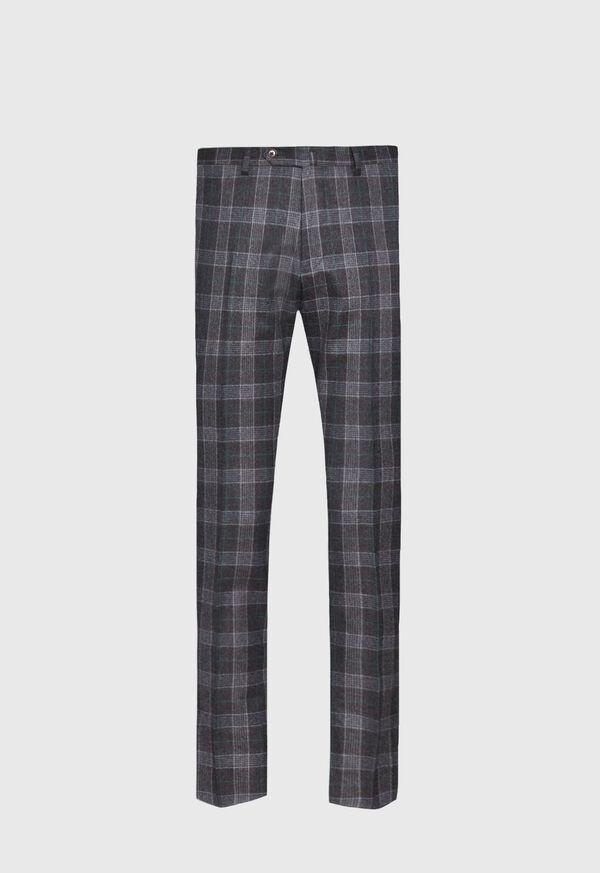 Grey Plaid Wool Suit, image 6