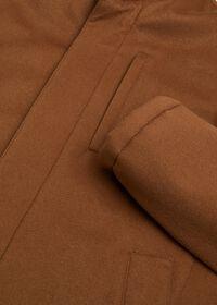 Cashmere Car Coat with Removable Fur Trim, thumbnail 2