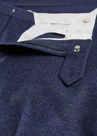 Mid Blue Solid Flannel Paul Fit Suit, thumbnail 5