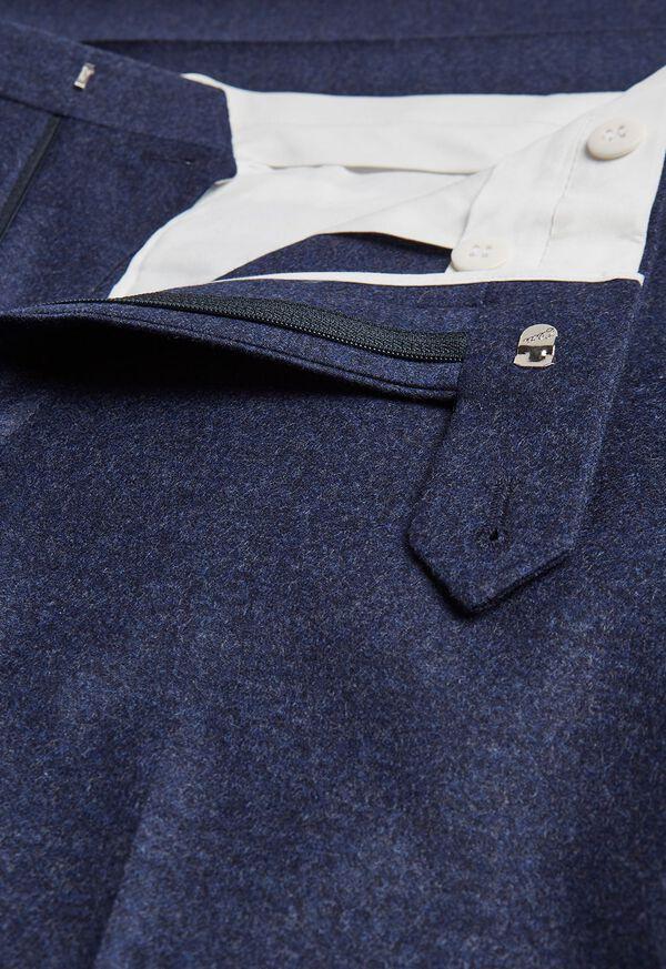 Mid Blue Solid Flannel Paul Fit Suit, image 5