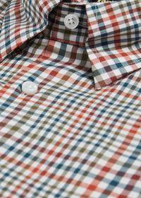 Lightweight Brushed Flannel Plaid Sport Shirt, thumbnail 2