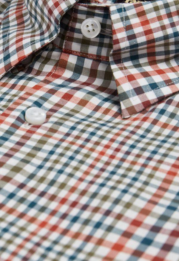 Lightweight Brushed Flannel Plaid Sport Shirt, image 2