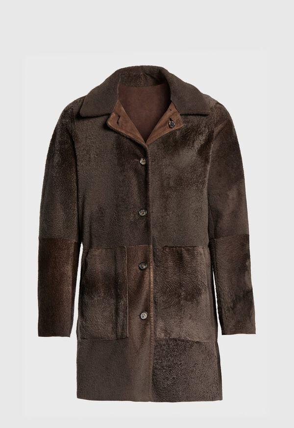 Reversible Lightweight Shearling Coat, image 3