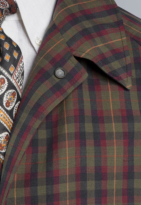 Plaid Trench Coat, image 2