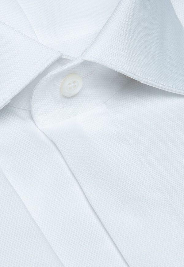 Pique Spread Collar Formal Shirt, image 2