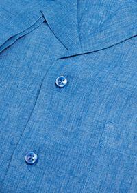 Blue Linen Camp Shirt, thumbnail 2