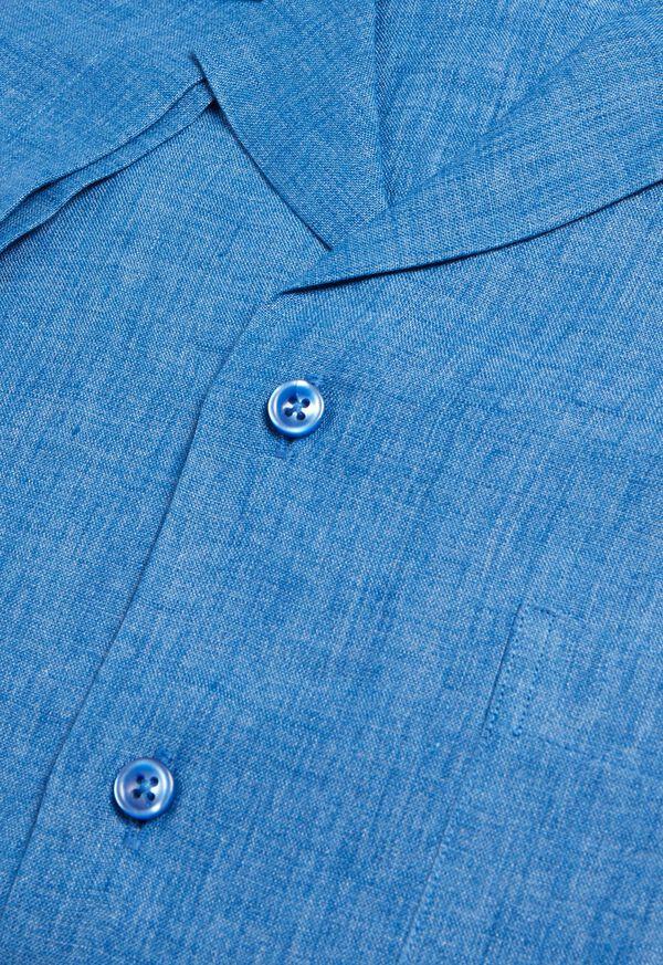 Blue Linen Camp Shirt, image 2
