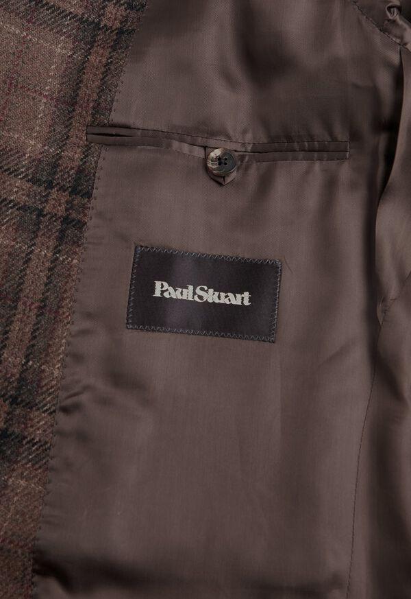 Brown Plaid Wool Sport Jacket, image 3