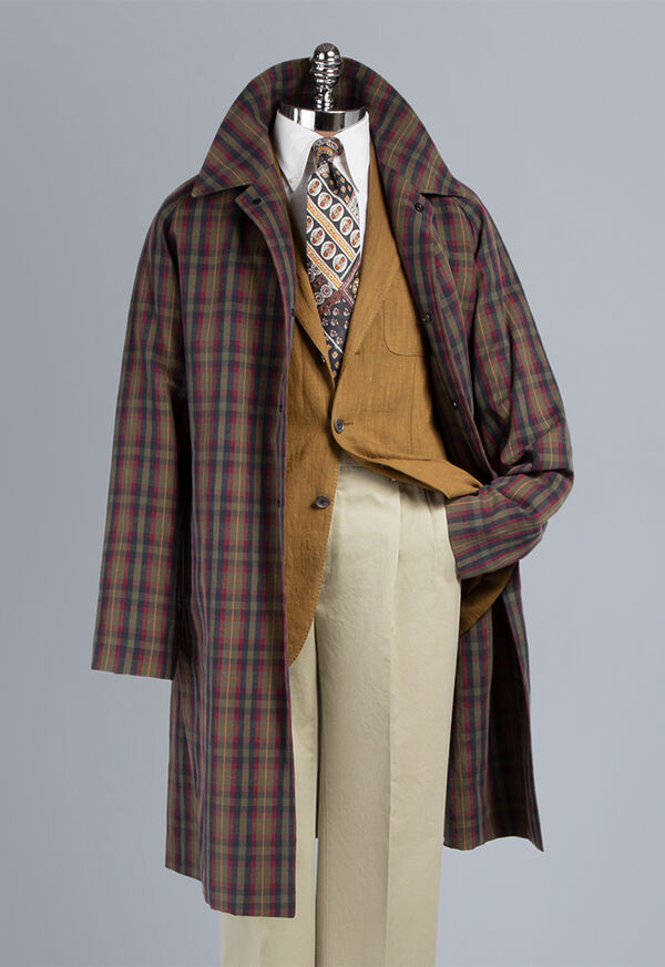 Plaid Trench Coat, image 1