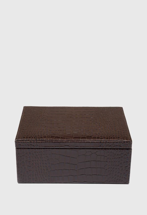 Embossed Leather Jewelry Box, image 3