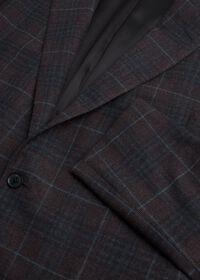 Paul Fit Brown Plaid Wool Blend Sport Jacket, thumbnail 2