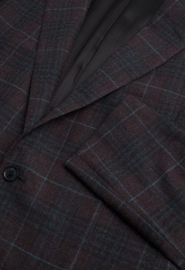 Paul Fit Brown Plaid Wool Blend Sport Jacket, image 2