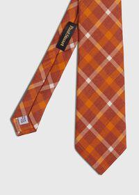 Silk And Linen Plaid Tie, thumbnail 1