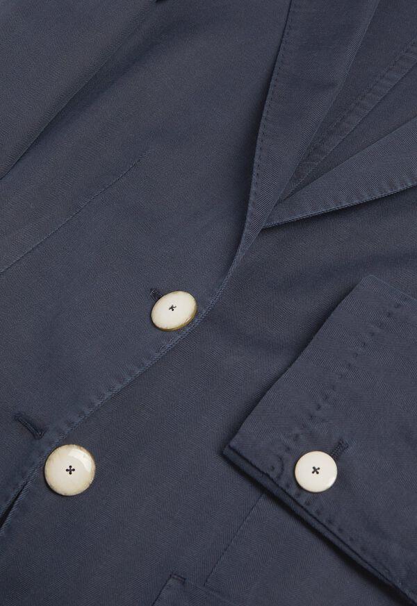 Herringbone Cotton Blend Blazer, image 2